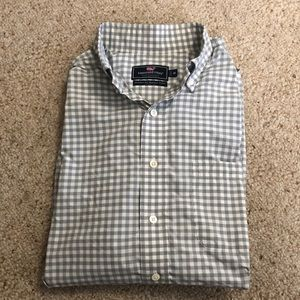 Vineyard Vines Performance Murray Shirt Gray Check